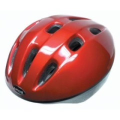 Photograph of a motorcycle helmet, such as may be tested in the helmet study.